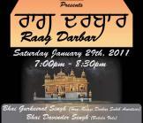 Raag Darbar - Saturday January 29th, 2011